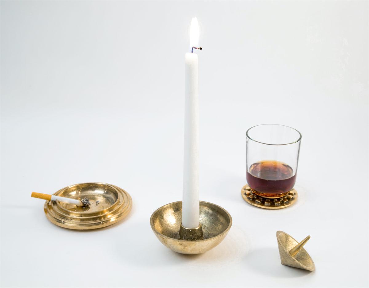 Sandcast Tableware Brass